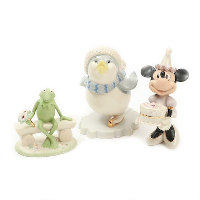 "Lenox ""Kermit's Bouquet of Cheer"" and Other Porcelain Figurines"