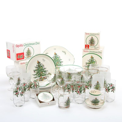 "Spode ""Christmas Tree"" Dinnerware, Serveware, and Drinkware"