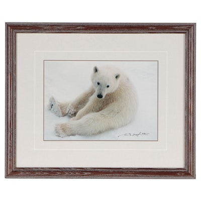 Thomas D. Mangelsen Digital Photograph Polar Bear in the Snow, 1990