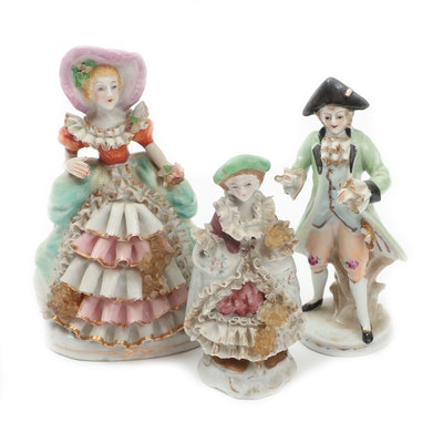 Orion Japanese Porcelain Figurines, Mid-20th Century