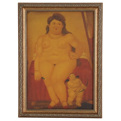 "Giclée after Fernando Botero ""Venus"", Late 20th Century"