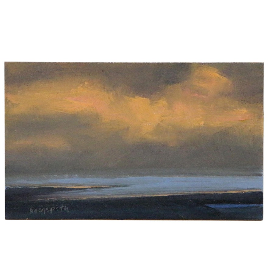 Stephen Hedgepeth Coastal Landscape Oil Painting, 21st Century