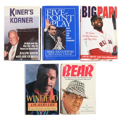 Signed Sport Biographies Including David Ortiz and Mike Krzyzewski