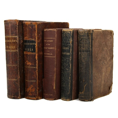 """Lorenzo Dow's Works"" and Other History Books, Mid-19th Century"
