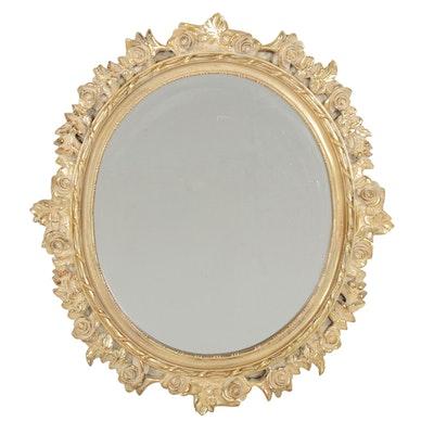 Giltwood Oval Wall Mirror