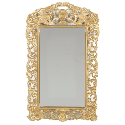 Gold Painted Wood Wall Mirror