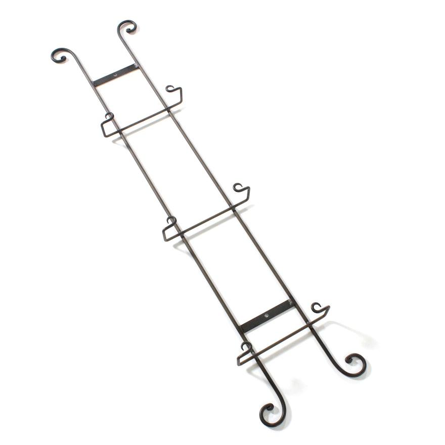 French Scroll Metal Plate Rack