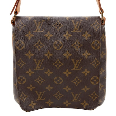 Louis Vuitton Musette Salsa Flap Front Bag in Monogram Canvas and Leather
