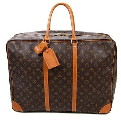 Louis Vuitton Sirius 50 Soft Sided Suitcase in Monogram Canvas