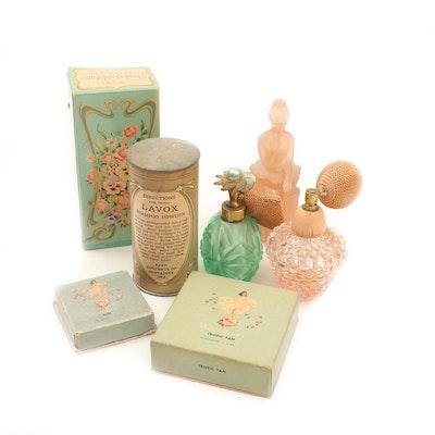 "Avon Prima Ballerina ""Sweet Honesty"" Perfume Bottle with Vanity Collection"