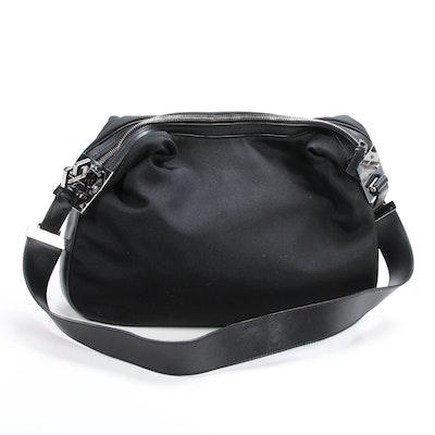 Gucci Black Nylon and Leather Shoulder Bag