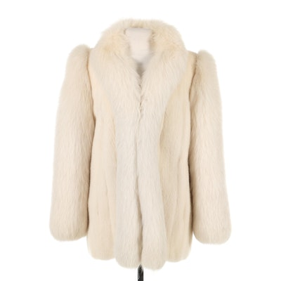 White Mink and Fox Fur Jacket