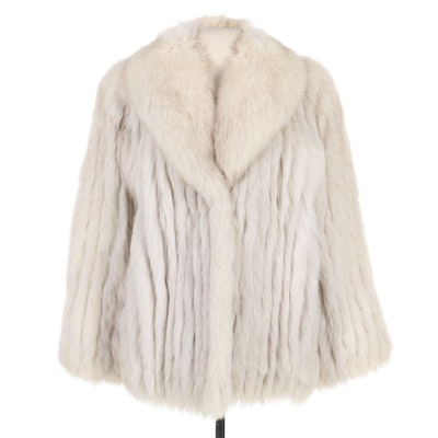 Corded Finnish Blue Fox Fur Coat