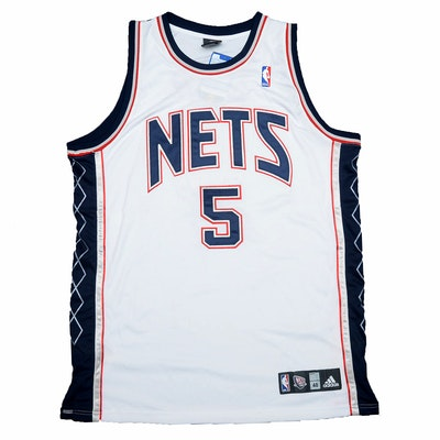 Jason Kidd #5 Signed New York Nets NBA Adidas Basketball Jersey, Nets COA