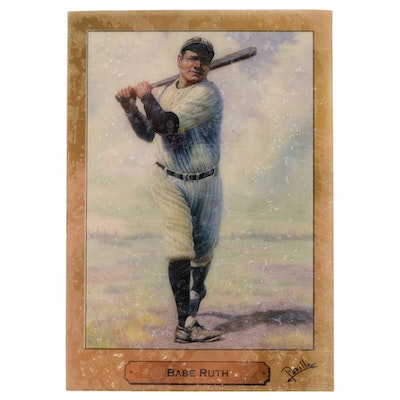 "1992 PM Cards Babe Ruth ""1 Gram Fine Gold"" Baseball Card"