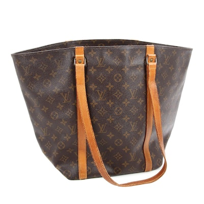 Louis Vuitton Sac Shopping Tote Bag in Monogram Canvas and Vachetta Leather