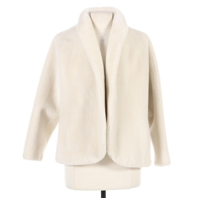 Faux Fur Open Front Jacket