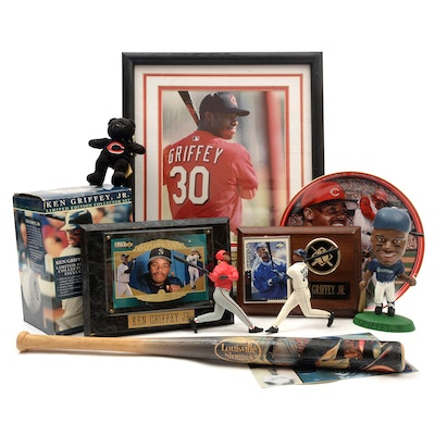 Ken Griffey Jr. (HOF) Seattle Mariners and Cincinnati Reds Sports Memorabilia