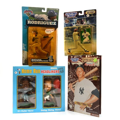 McFarlane, Staring Lineup, and Headliners Baseball Action Figures with M. Mantle