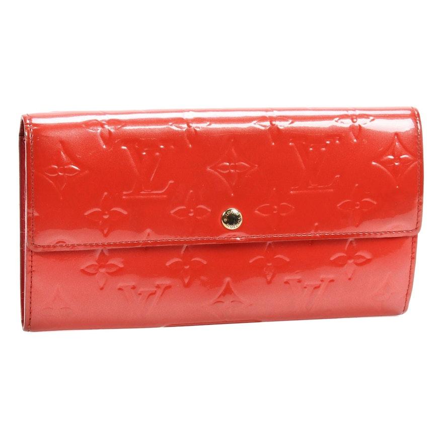 Louis Vuitton Porte-Tresor International Wallet in Monogram Vernis and Leather