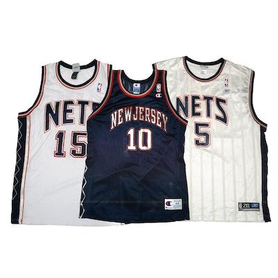 Vince Carter and Sam Cassell Signed New York Nets NBA Basketball Jerseys