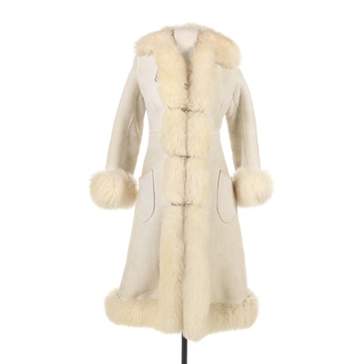 Shearling Duster Coat, 1970s Vintage