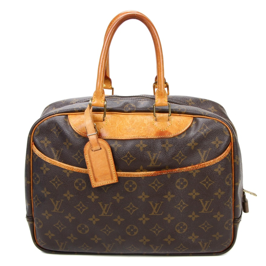 Louis Vuitton Deauville Satchel in Monogram Canvas and Vachetta Leather