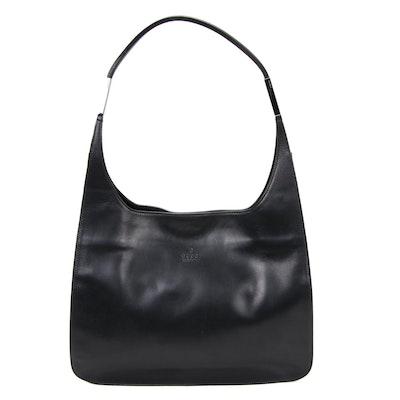 Gucci Black Leather Top Handle Shoulder Bag