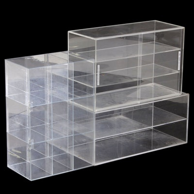 Acrylic Display Units, Set of Three