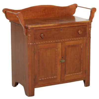 Early Victorian Cherrywood Washstand, Mid-19th Century
