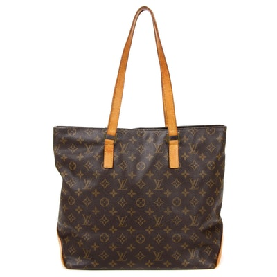 Louis Vuitton Cabas Mezzo Tote in Monogram Canvas and Vachetta Leather