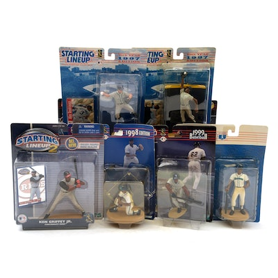 """Starting Lineup"" Baseball Action Figures, Griffey Jr., McGwire, and A-Rod"