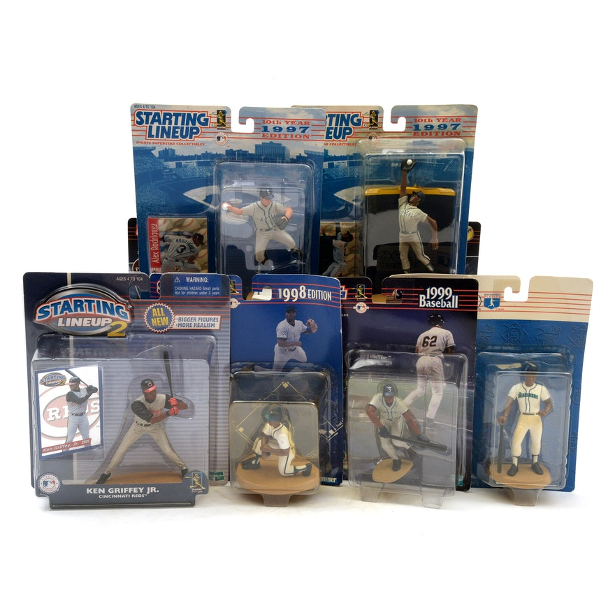 """""""Starting Lineup"""" Baseball Action Figures, Griffey Jr., McGwire, and A-Rod"""