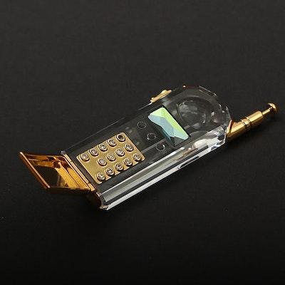 Swarovski Crystal Cell Phone Figurine