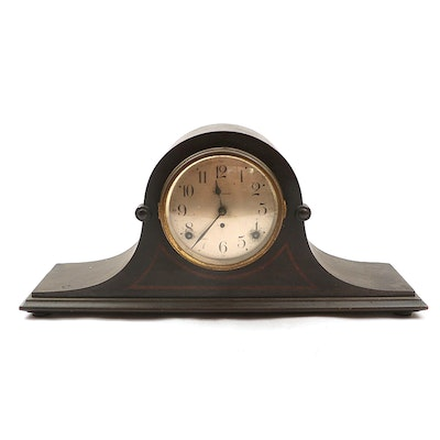 Seth Thomas  Clock Co. Mahogany Tambour Mantel Clock, circa 1920s