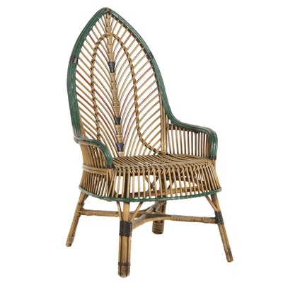 Polychromatic Rattan Arm Chair