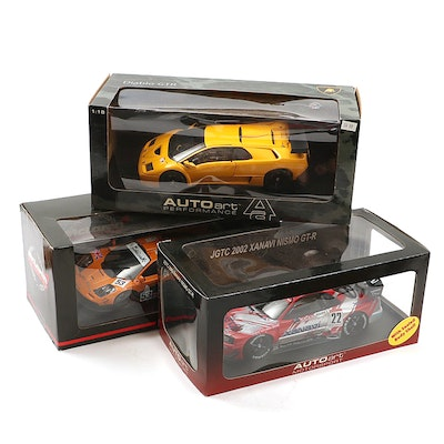 McLaren Collectibles Auto Art Motorsports Cars in Original Packaging