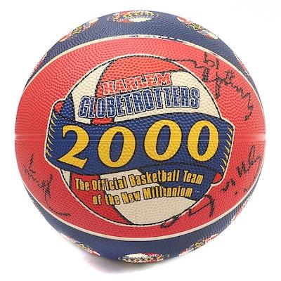 Harlem Globetrotters Autographed 2000 New Millennium Souvenir Basketball