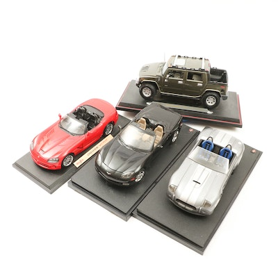 Maisto and Mattel Diecast Model Sports Cars