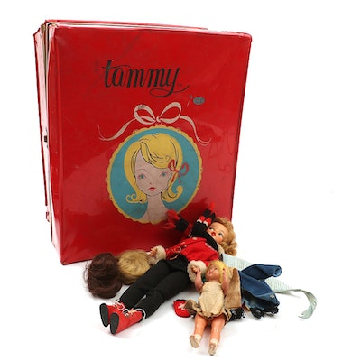 Ideal Toys Tammy Doll, Storage Carrying Case, Clothing and Accessories, 1962