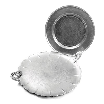 Farber & Shelvin with Other Hand Wrought Aluminum Serving Trays