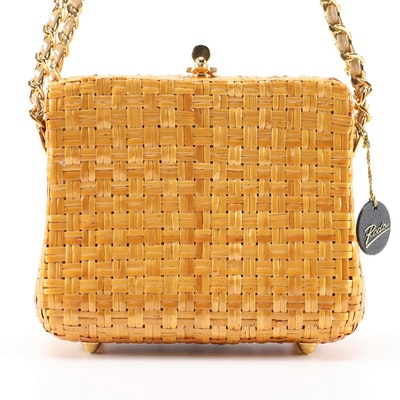 Rodo Woven Basket Shoulder Bag from Bonwit Teller, Vintage