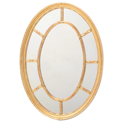 George III Style Giltwood Wall Mirror, 20th Century