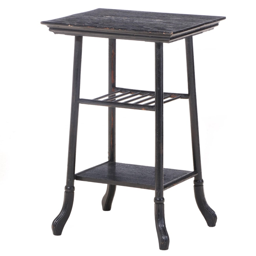 Bartelle Furniture Co. Late Victorian Ebonized Oak Side Table, circa 1900