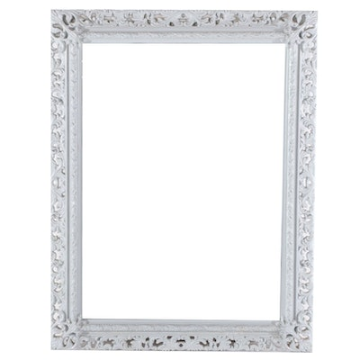 Turner White Rococo Style Wall Mirror, Contemporary