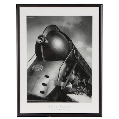 """Offset Lithograph Poster """"Steam Engine"""", 21st Century"""