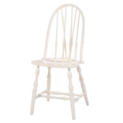 Painted Wood Brace-Back Side Chair, Mid to Late 20th Century