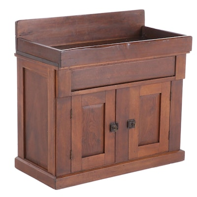 Oak Dry Sink Cabinet, Early 20th Century