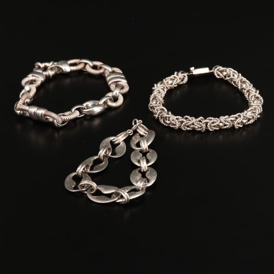 Sterling Bracelets Including Mexican Silver