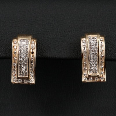 14K 1.00 CTW Diamond Invisible Set Drop Earrings